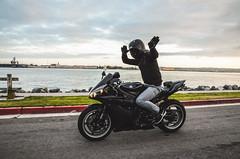 DSC_7104 (Steven Lenoir) Tags: ocean sea marina bay sandiego sd yamaha r1 sportbike harborisland dab superbike supersport bayfront streetbike 1000cc yamahar1 dabbing rollingshot teamyamaha
