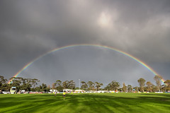 Rosebud Rainbow (Thunder1203) Tags: sky beach weather daylight football rainbow morningtonpeninsula aussierules afl canoneos7d thunder1203