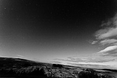 Rock and Stars (Tyrone Williams) Tags: longexposure sky mountains classic night clouds canon dark stars 5d brecon 3200iso