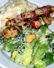 CHICKEN KABOBS (Prayitno / Thank you for (10 millions +) views) Tags: california ca old classic chicken menu restaurant town leaf salad cafe mashed potatoes lemon healthy downtown fat low caesar bistro historic delicious lancaster choice satay kabob theboulevard sate theblvd konomark