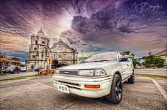 89 Corolla @ Sta. Ana - HDR Photography By: Pipoyjohn (Pipoyjohn) Tags: church car landscape photography ana philippines hdr highdynamicrange sta pampanga pipoy pipoyjohn