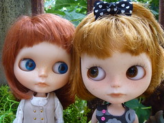 My two little ginger nut girls!! (Blythesighted) Tags: harmony rudi blythe