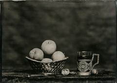 apples (Ilya Egorkin) Tags: wet plate stilllive ambrotype apples alternativeprocess altprocess collodion 13x18 heliar360