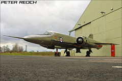 The Flaming Pencil (Peter Reoch [Old Pentax Stream]) Tags: classic museum pencil silver bristol outside aircraft hangar jet research british 1962 flaming raf bac 188 supersonic cosford dcae