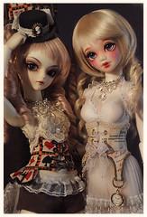 Satine & Cynnamon (Clockwork_Angel) Tags: eyes mod doll open body aria modded unoa madoromi ariadoll
