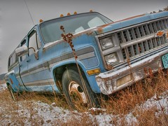 Chevy dually (Bogger44) Tags: chevrolet abandoned wisconsin rural countryside rust rusty chevy pointandshoot 1ton dually crewcab a830