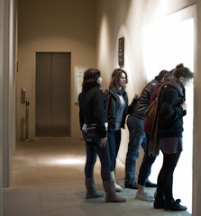 drawn to the light (stumayhew) Tags: light canon crowd group 5d britishmuseum diffuseglow