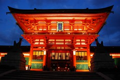 Fushimi Inari Shrine (alvinclsmy) Tags: blue japan night kyoto shrine inari fushimi nikond80 alvinclsmy