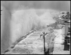 Big surf in Winthrop (Boston Public Library) Tags: weather storms floods lesliejones