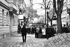 i'm older now, but not done hoping (somogyibarbara) Tags: vienna christmas city winter people blackandwhite bw man cold tree architecture contrast austria blackwhite amazing europe december crowd sight emotional diciembre hundertwasser candelabra