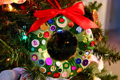 sequins wreath (sevenworlds16) Tags: christmas xmas decorations tree diy holidays handmade crafts wreath ornament sequins 2012 spangle