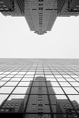 The Chrysler Buildings (D.J. De La Vega) Tags: new leica york reflection building manhattan chrysler x1
