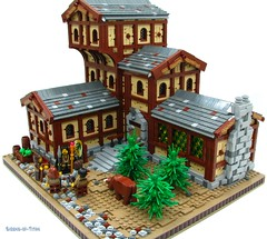 The Drake's Head Inn (Sirens-Of-Titan) Tags: building inn lego fantasy tavern mage