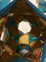 K5 Galaxy antiprisms 3 (Origami Tatsujin 折り紙) Tags: blue art colors gold shiny geometry prism cupola papiroflexia papercrafts polyhedra modularorigami tomokofuse bluegold rhombicosidodecahedron geometricbeauty geometricart antiprism tetrahedralsymmetry beautifulorigami squareflatunit regularhexagonalflatunit k5galaxystewarttoroid papercraftssquareflatunit kunikokasahara triangleflatunit regularhexagonalunit