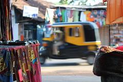 Goa 2010 (Laplander2013) Tags: travel india canon asia flickr market transport goa stall material textiles rickshaw sari 550d canon550d