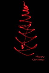 Happy Christmas to all my Flickr friends and contacts~Explored #197 :) (Wendy:) Tags: christmas longexposure light red lightpainting tree 50mm icm lightsource explored intentionalcameramovement
