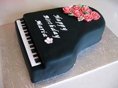 Baby Grand Piano cake (ilovechrissycakes) Tags: birthday party musician music woman baby black flower girl cookies keys notes quebec swiss name piano cream recital grand vanilla hudson custom pianist meringue filling fondant stlazare gumpaste buttter rosespink