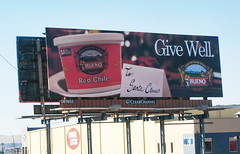 How you know it's Christmas in Albuquerque (rovingmagpie) Tags: chile christmas newmexico albuquerque billboard santaclaus bueno dearsanta redchile buenofoodscom givewell
