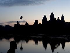 Angkor Wat at Dawn; Angkor Archaeoligical Park, Cambodia