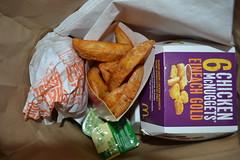 DSC_1476 (inh3ll) Tags: food chicken cheese sauce burger mcdonalds cheeseburger fries nuggets