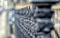 More Wrought Iron.  More Bokeh. (Pete A. McLeod) Tags: fence aperture iron dof bokeh depthoffield more mcleod wrought nikon50mm14 nikcolorefexpro nikond7000 cabbagetowntorontoontariocanada