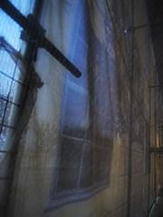 Inside Out View Through the Mask - Schlo Schnbrunn Wien (hedbavny) Tags: wien light shadow tree window ast branch sightseeing scaffold shroud renovation verpackung schatten baum shrouded packed schleier restauration sehenswrdigkeit gerst restaurierung schnbrunnpalace eingepackt sterreichaustria verschleiert maskiert potemkinschesdorf eingerstet schlosschnbrunn potemkinfacade