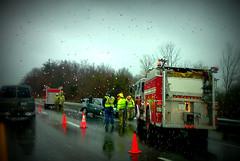 and the rain turned into snow (frankieleon) Tags: auto car interestingness interesting highway bestof accident firetruck cc creativecommons interstate wreck emergency popular frankieleon
