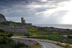 Tower (albireo 2006) Tags: road wallpaper tower clouds wow mediterranean day cloudy background malta curve countryroad scurve siggiewi gharlapsi kartpostal totalphoto maltesecountryside garlapsi