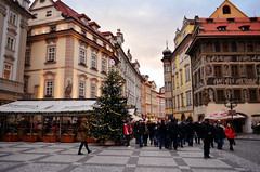 Prague old town (The Globetrotting photographer) Tags: street old city winter urban europe republic czech prague prag praga   2011