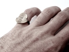 Horseman Ring (Blind Spot Jewellery) Tags: coin blind euro contemporary jewelry spot ring jewellery crisis zone jewel blindspot blindspotjewellery