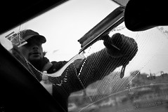 Clean (Jared Krause) Tags: street blackandwhite bw car homeless streetphotography squeegee
