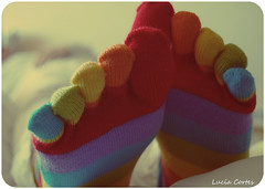 Happiness (Lucia Cortés Tarragó) Tags: blue red green yellow collage socks relax happy nikon colorful purple vnitage