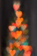 <3 (hddod) Tags: christmas tree lensbaby hearts lights bokeh shapes 2011 2011yip