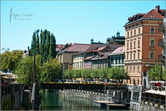 Postcard from Ljubljana (Stefan Cioata) Tags: city bridge flowers holiday tourism beautiful river photography photo europe european image sale capital great stock visit tourist best explore slovenia getty destination top10 available outstanding ljubljanica ljublajana flickrandroidapp:filter=none
