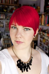 New year, new hair (evilbatduck) Tags: red haircut me hairdye hair effects cut nuclear pixie special short dye cherrybomb
