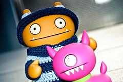 Uglyworld #1397 - An Eventfullers Day (Project TW - Image 2-366) (www.bazpics.com) Tags: new travel blue light dog travelling smile hat project fun happy outfit cool funny navy belly jumper matching tickle uglydoll dug suitcase 2012 uglydolls babo wage uglydog 366