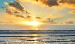 Sunset over Aberavon beach (the mr gnu) Tags: sunset sea sky colour beach clouds port sand nikon 1855mm nikkor vr talbot dx aberavon d7000