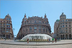 Genova (Stefan Cioata) Tags: summer italy tourism water fountain beautiful buildings photography photo aqua europe italia image sale great stock perspective best explore genova getty top10 available outstanding arhitecture
