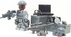 Delta Ops (Silenced_pp7) Tags: camera black brick digital computer eclipse desert arms lego arm laptop bricks knife delta mini camo figure gasmask knives minifig forge minifigs magazines custom mags build combat ammo figures printed vignette figs gi ops knive merc com