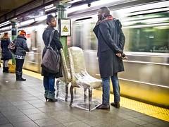 NYC Subway: Bring your own chair (Giovanni Savino Photography) Tags: street manhattan streetphoto streetphotos streetphotographer newyorkstreetphotography magneticpiccom giovannisavino streetphotographymagneticart streetimagesnewyorkstreetnewyorkstreetsstreetshots