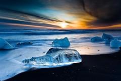 Ice (Kristinn R.) Tags: sky ice beach clouds sunrise iceland sand jkulsrln breiamerkursandur blinkagain ruby5