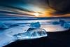 Ice (Kristinn R.) Tags: sky ice beach clouds sunrise iceland sand jökulsárlón breiðamerkursandur blinkagain ruby5