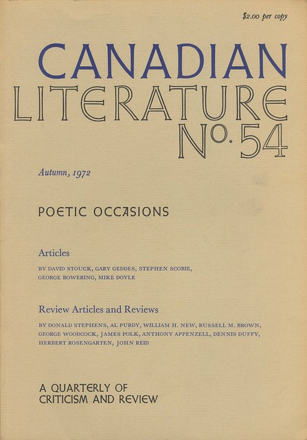 CANADIAN LITERATURE #54