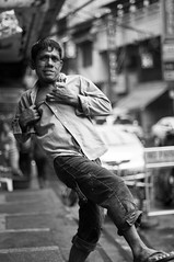 the nice guy (Takeshi GS) Tags: street people white black 50mm pentax philippines manila smc f17 pentaxm thedefiningtouch deftouch
