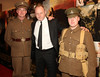 Soldiers Noel Mullen & Brian Kenny escorting Liam Cunningham down the red carpet at the Irish Premiere of 'War Horse' in the Savoy Cinema, Dublin. Opens at cinemas across the country Friday 13th. Photo: Anthony Woods