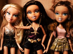 Cloe, Yasmin and Destiny (Bratz Guy) Tags: girls party fashion dolls destiny yasmin fabulous mga bratz cloe bratzparty