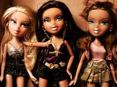 Cloe, Yasmin and Destiny (Bratz Guy☆) Tags: girls party fashion dolls destiny yasmin fabulous mga bratz cloe bratzparty