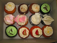 Cupcakes (Tha Goodiez) Tags: macro cupcakes colorful different cupcake dozen frosting flavors