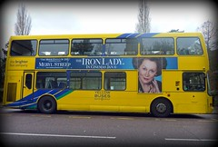 The Iron Lady (dawn.v) Tags: road uk winter england bus film yellow poster january dorset politician filmposter bournemouth margaretthatcher primeminister biopic merylstreep yellowbuses oscarnomination theironlady toryleader