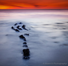T R I D E N T (Silent G Photography) Tags: ocean california ca longexposure sunset water nikon rocks pacific adobe le centralcoast pismo pismobeach poseidon shellbeach onone trident neutraldensity lr4 10stopndfilter ononesoftware bwnd110 nikond7000 nikkor1635mmf4 lightroom4 markgvazdinskas silentgphotography